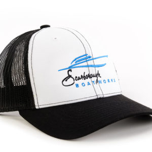 Scarborough-Boatworks-White-Black-Trucker-Hat-212