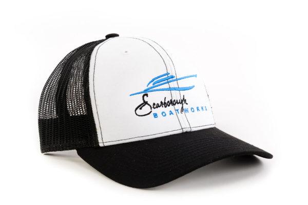 Scarborough-Boatworks-White-Black-Trucker-Hat-212